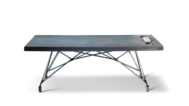 SLATE Concrete + Steel Chalkboard Coffee Table by Hard Goods