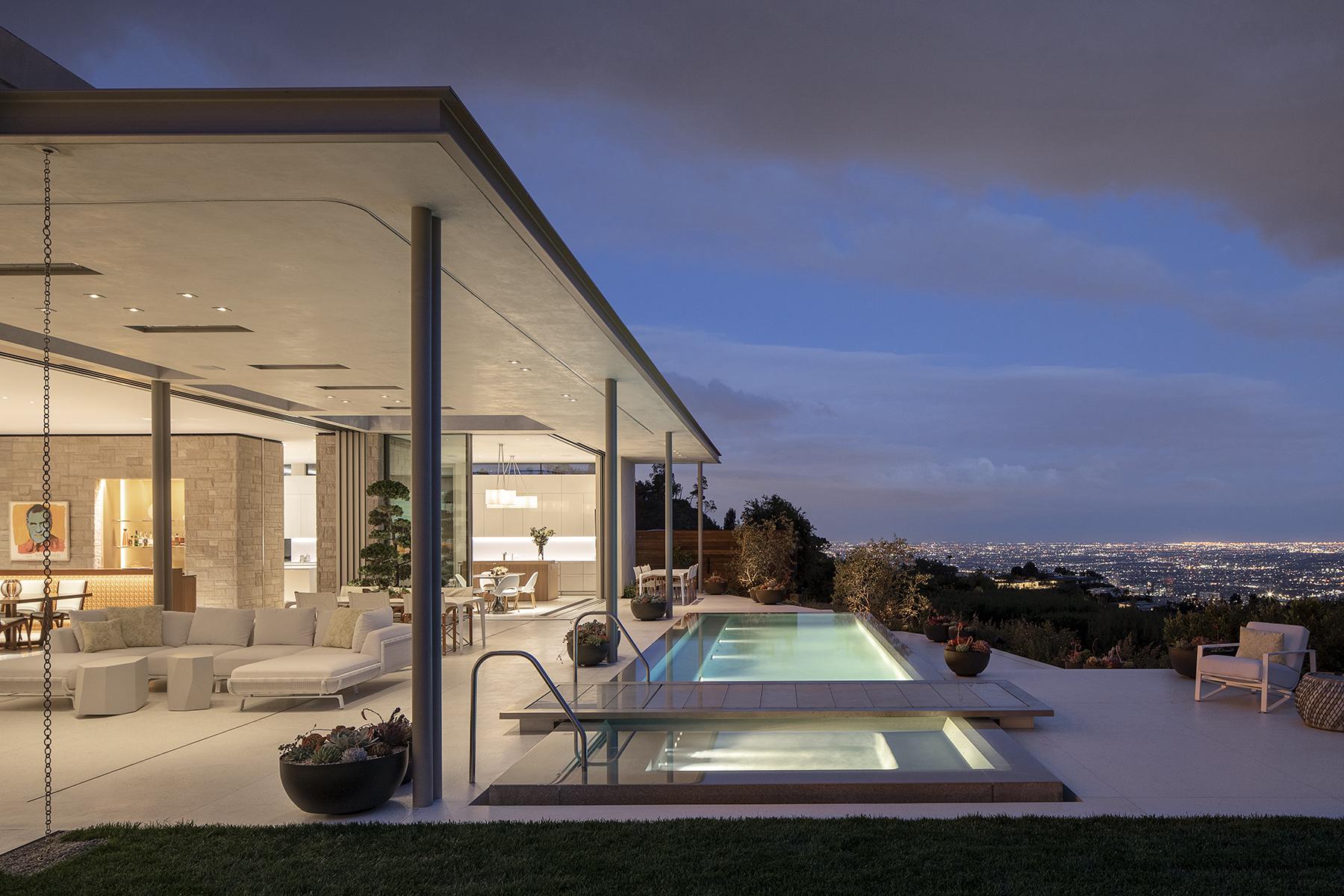 Modern home in LA with breeze blocks