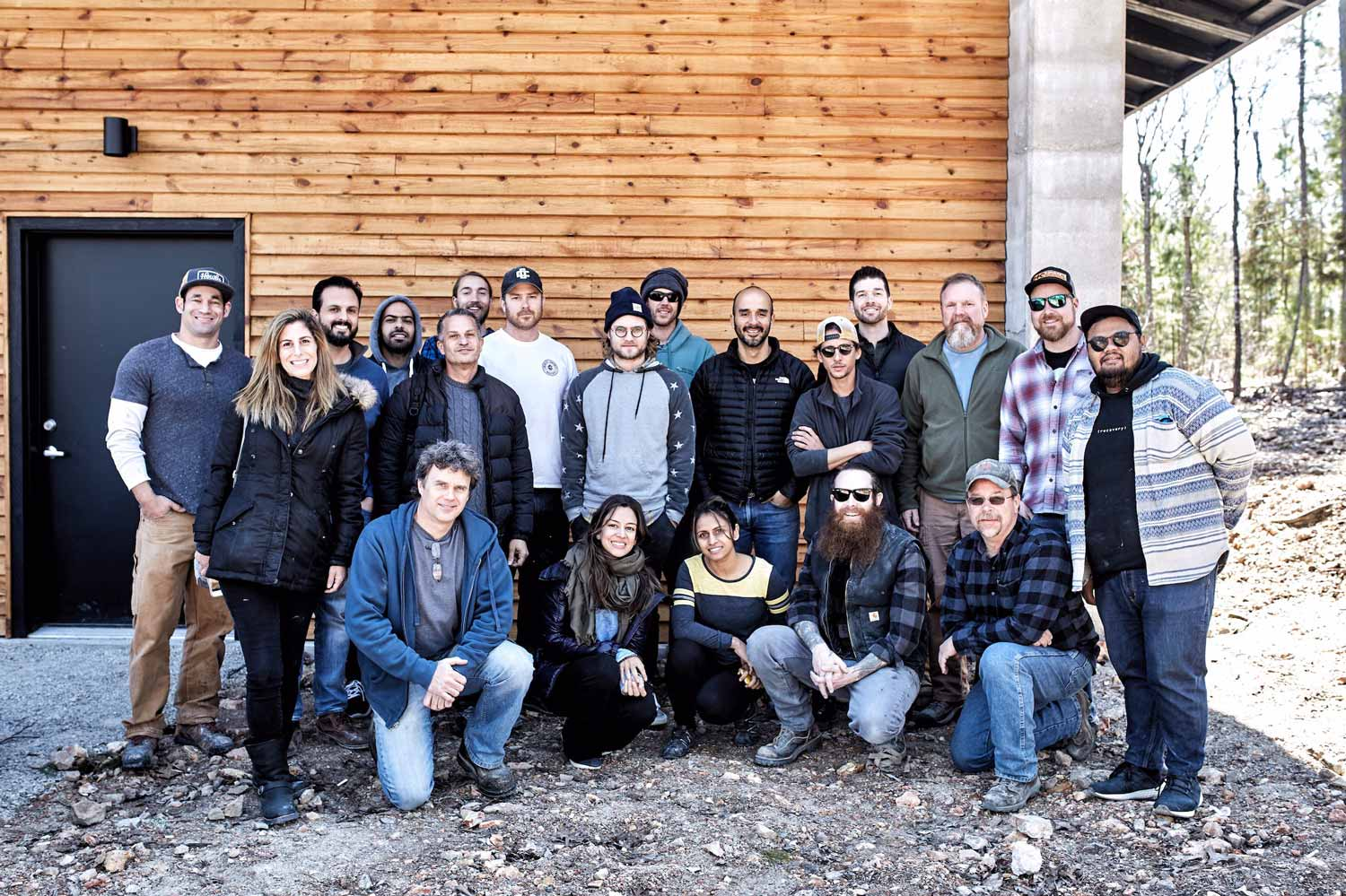Concrete Design School class photo from a fabric forming and gfrc sink workshop