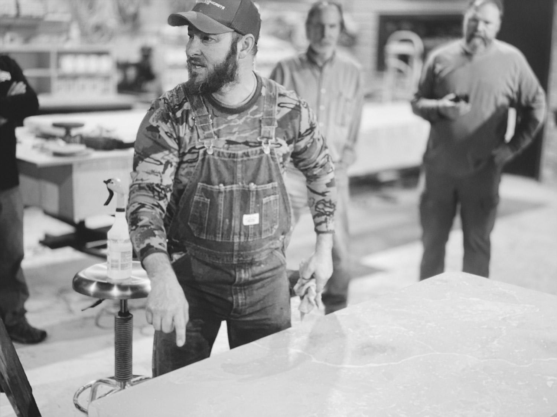 Dusty Baker demonstrating how to create DustyCrete