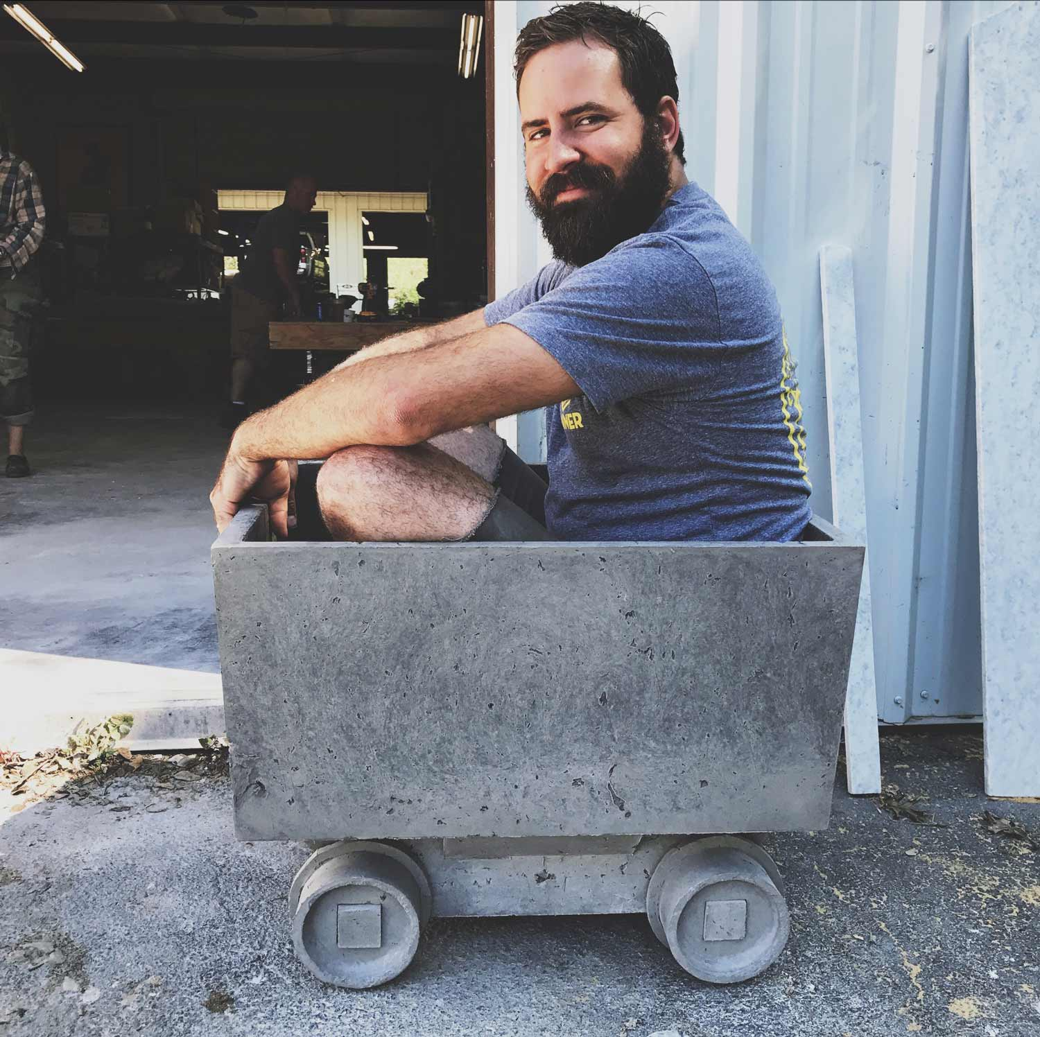 Sean Hunter at a Concrete Design School class in California