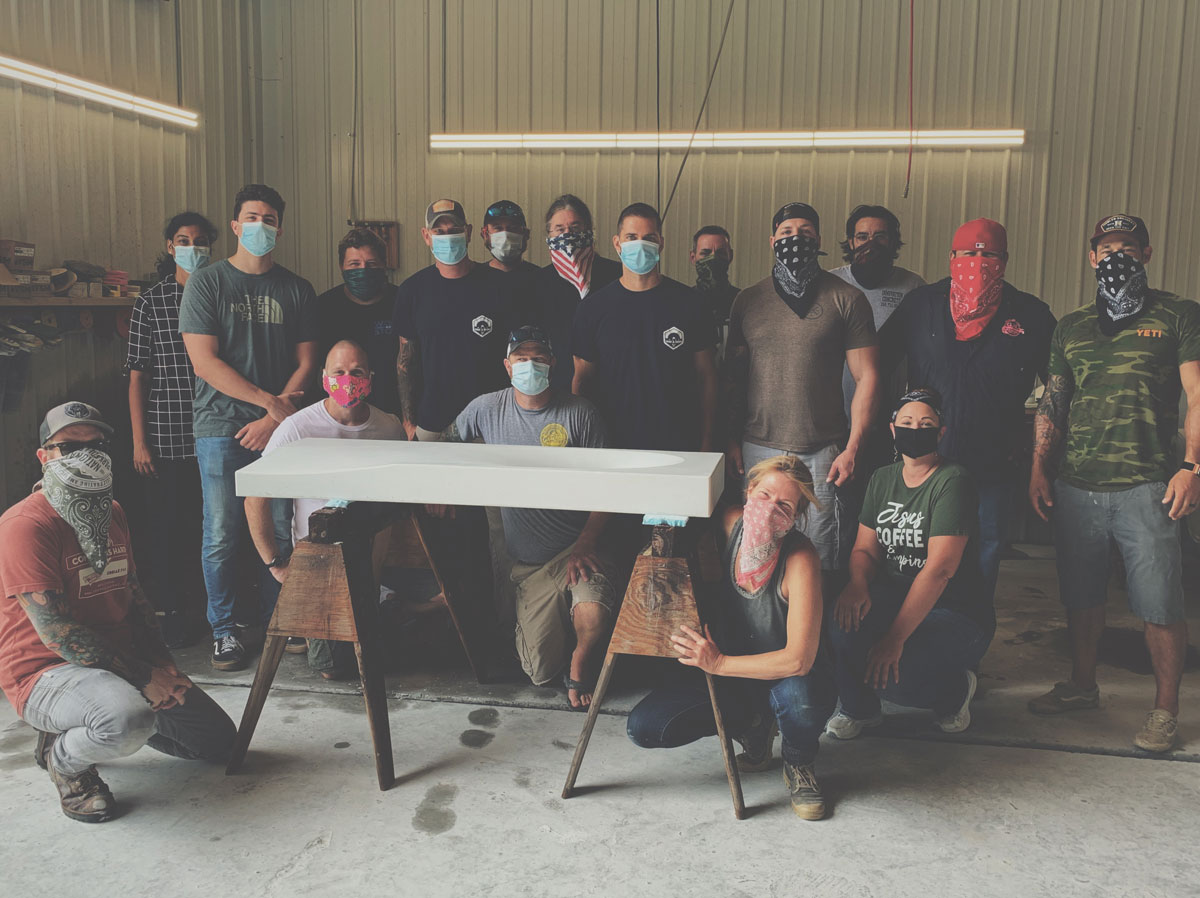 Class photo of the Concrete Hoedown in the Holler training event