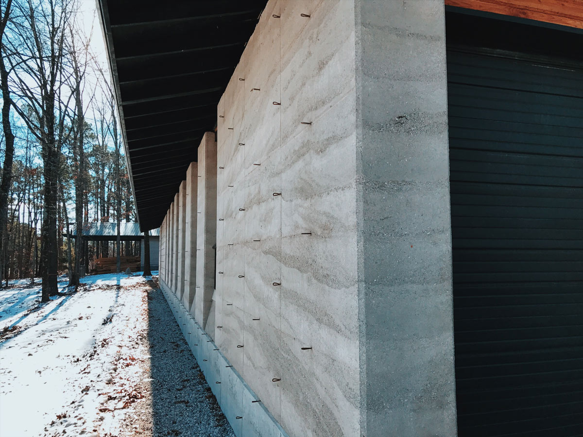 EarthForm Stabilized and Insulated Rammed Earth and Concrete Details