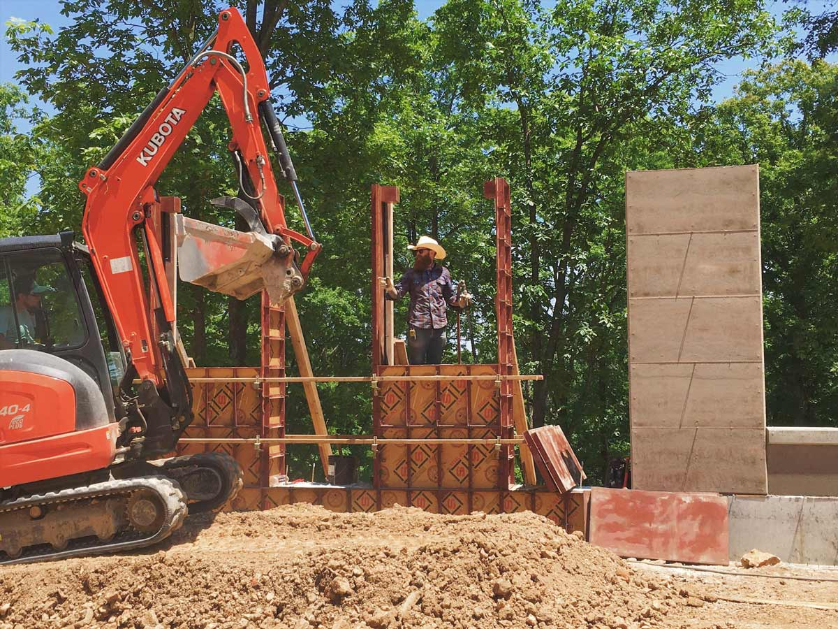 EarthForm Stabilized and Insulated Rammed Earth Commercial Contractor