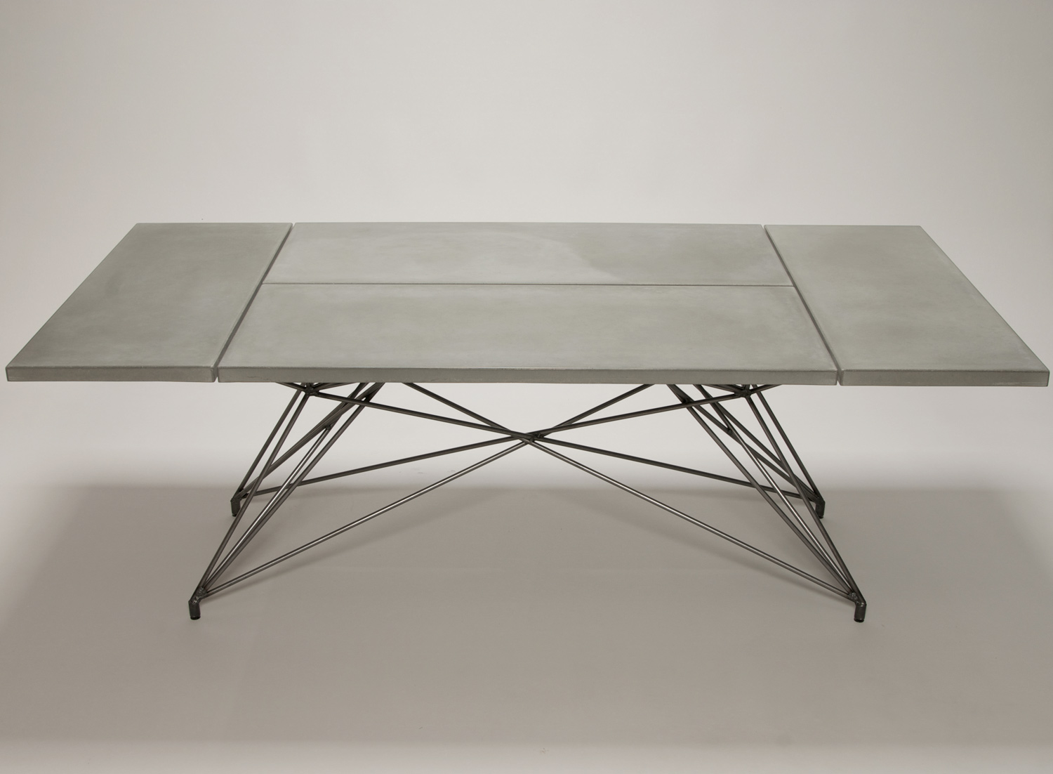 MCM concrete and steel dining table