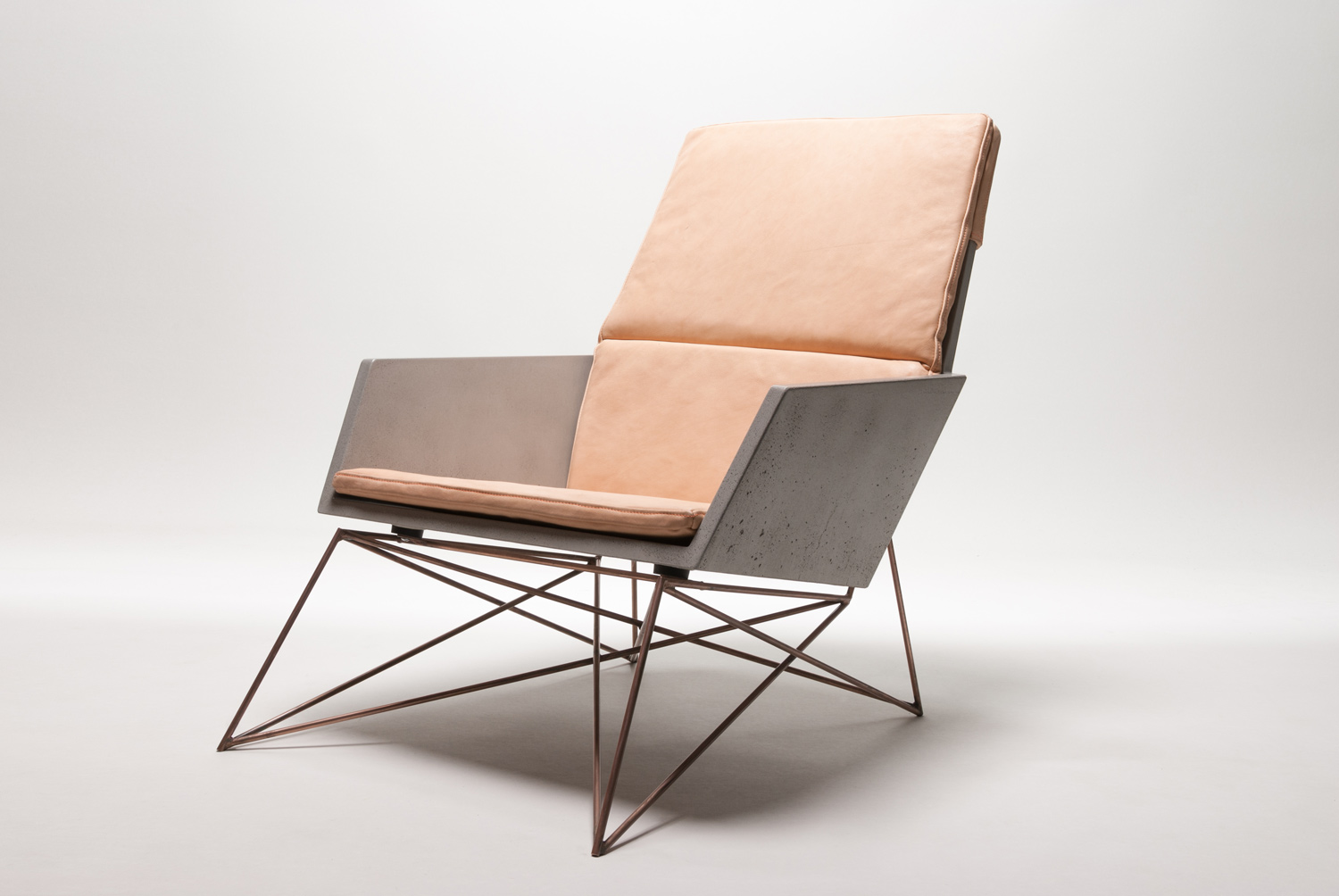 Concrete + Copper + Leather Modern Muskoka Chair