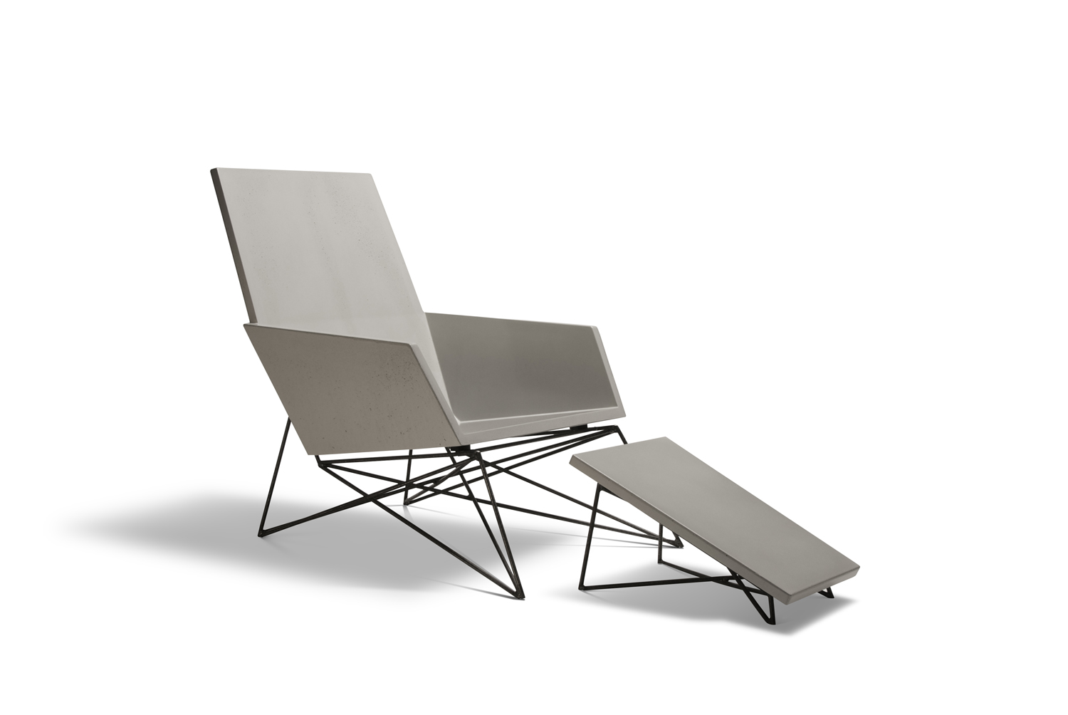 Hard Goods Concrete and Steel Modern Muskoka Outdoor Chair