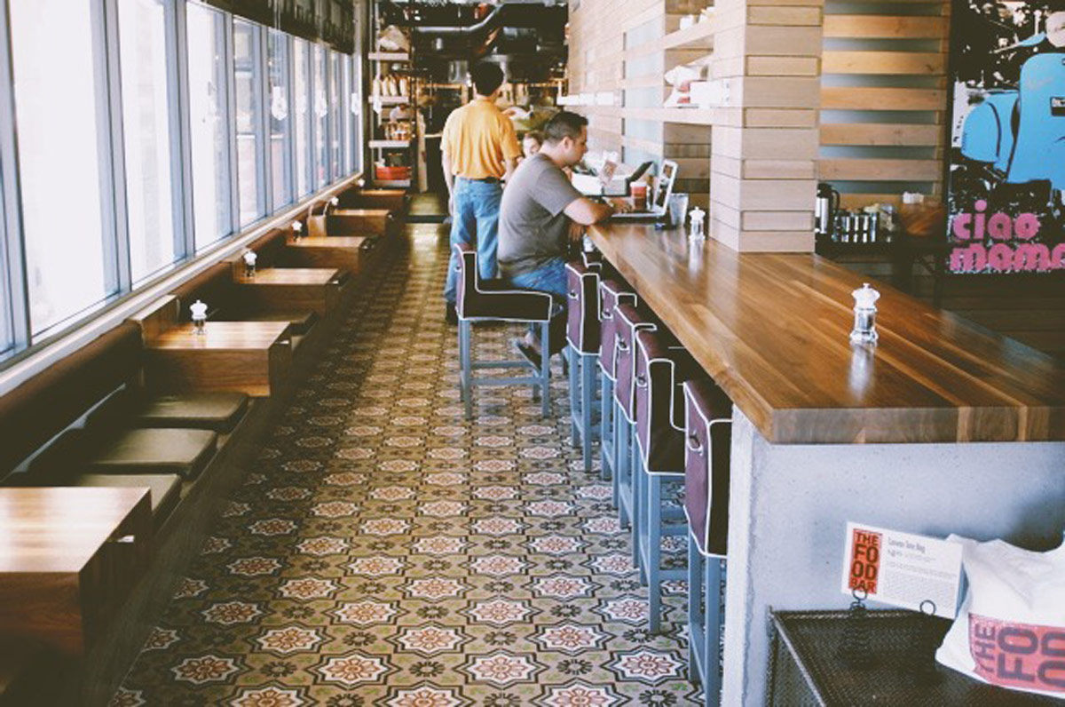 Concrete benches, walls, and countertops for a restaurant in Scottsdale, AZ