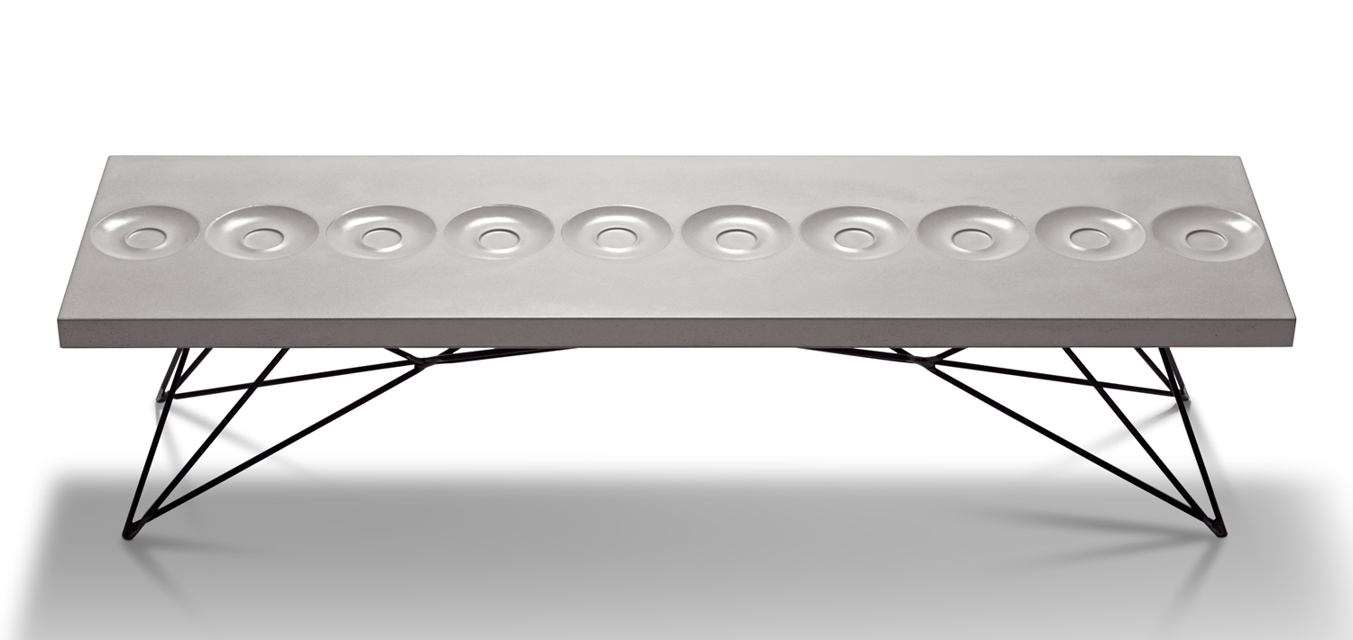 Hard Goods Concrete and Steel Orson Coffee Table