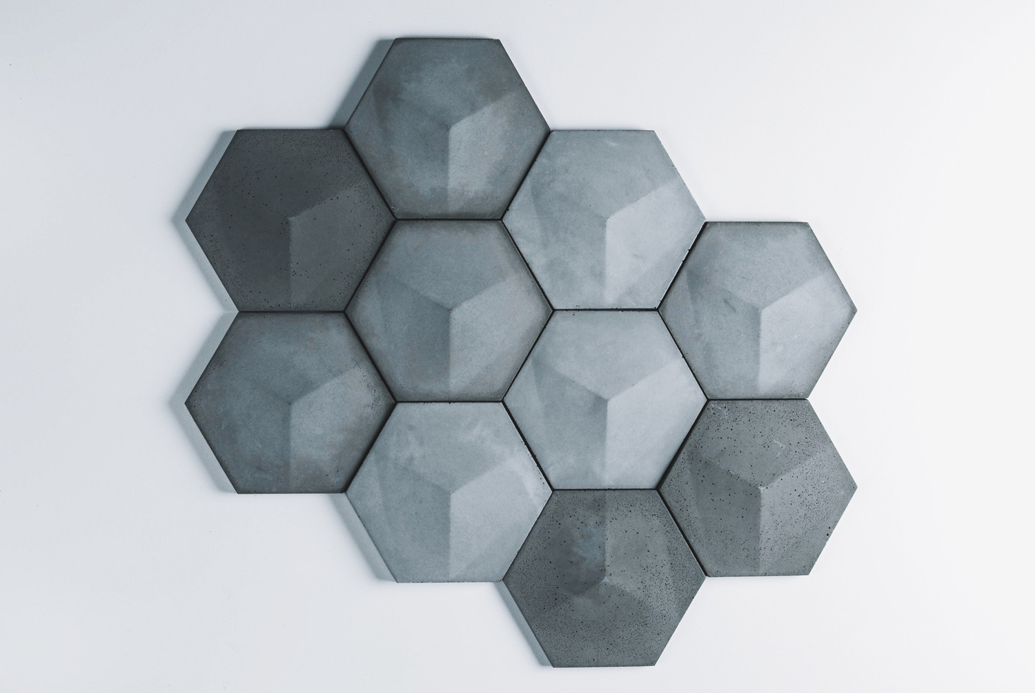 Hexagon concrete wall tile