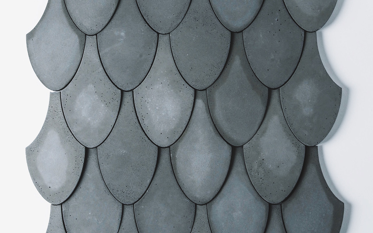 concrete scales wall tile