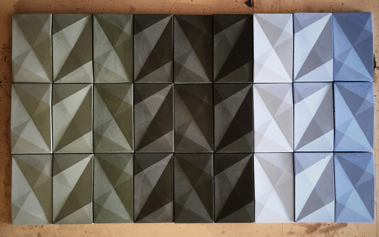custom color samples of modern concrete wall tile