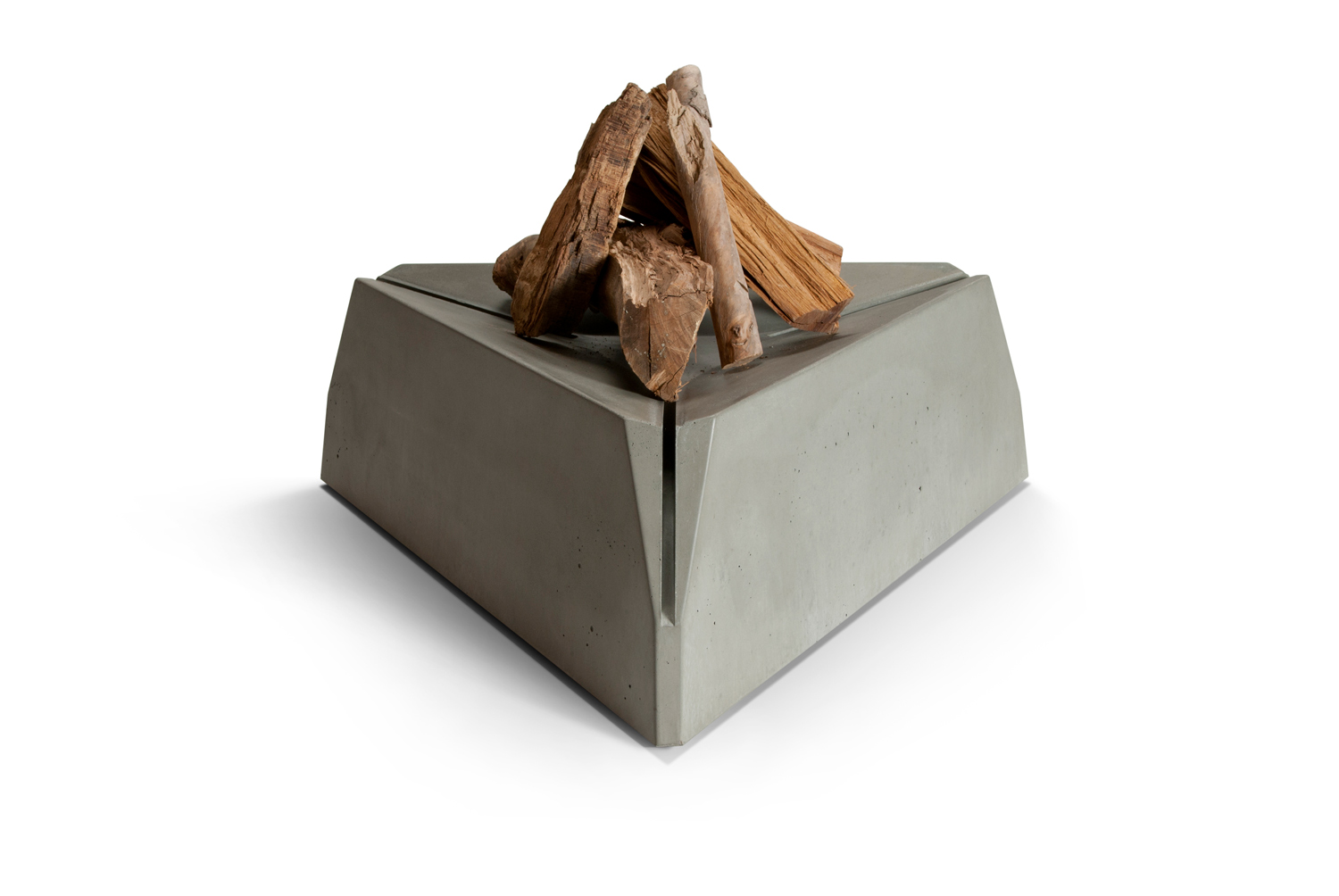Hard Goods Triangulum Concrete Fire Pit