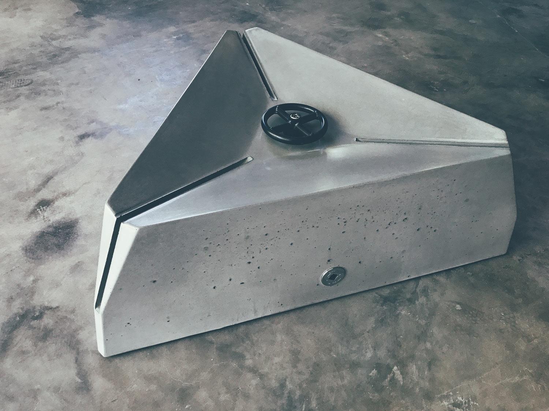 Hard Goods Triangulum Concrete Fire Pit Modern