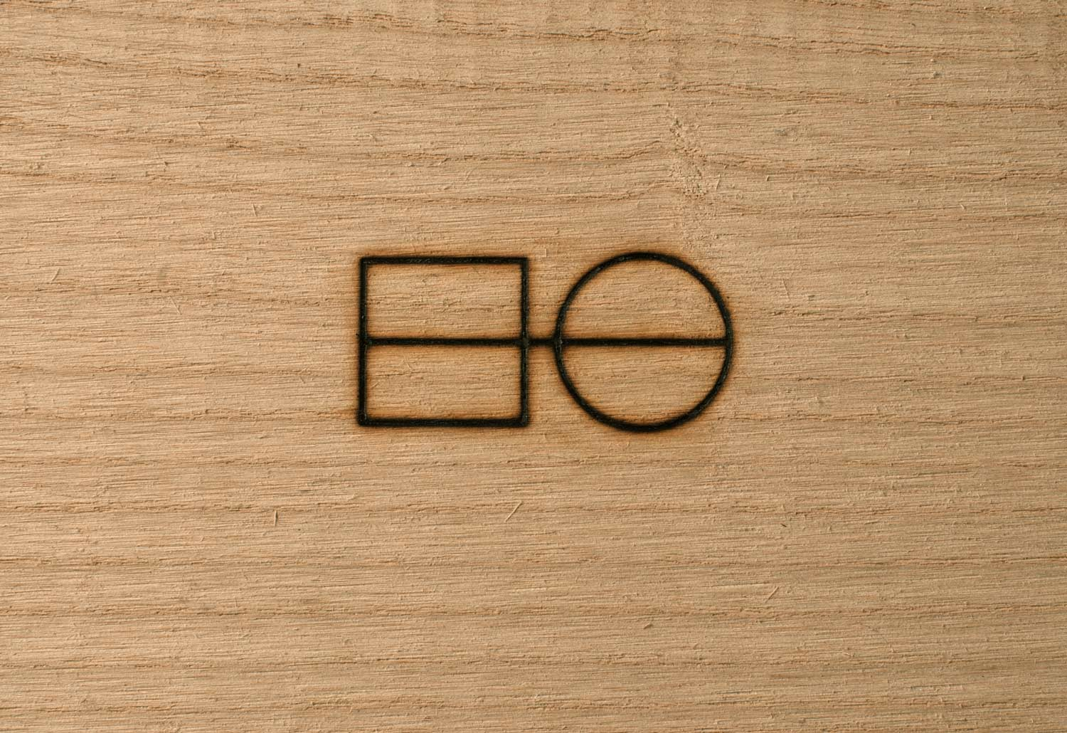 Wood branded with the Hard Goods logo